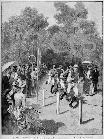 """Les coureurs """"Jockey"""" de 1887."""