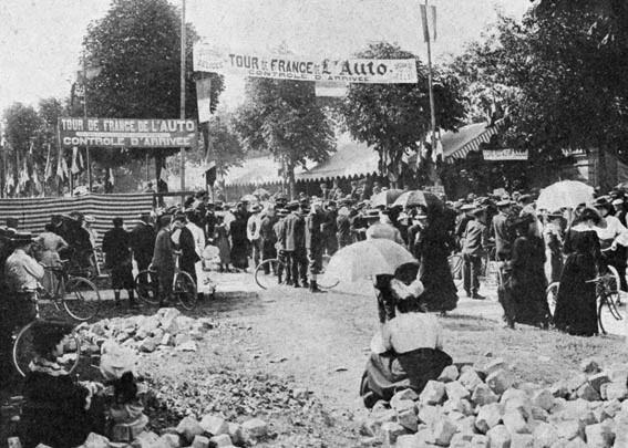 l'arrivée du tour de France 1904 à Lyon