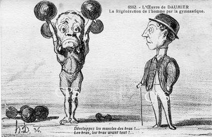 Daumier se moque de la gymnastique