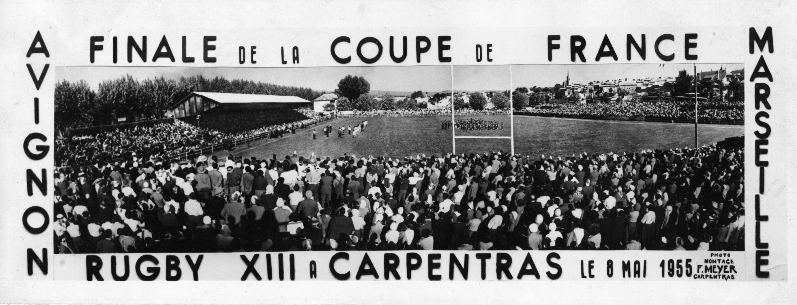 Coupe de France 1955. SOA 18 Marseille XIII 10.