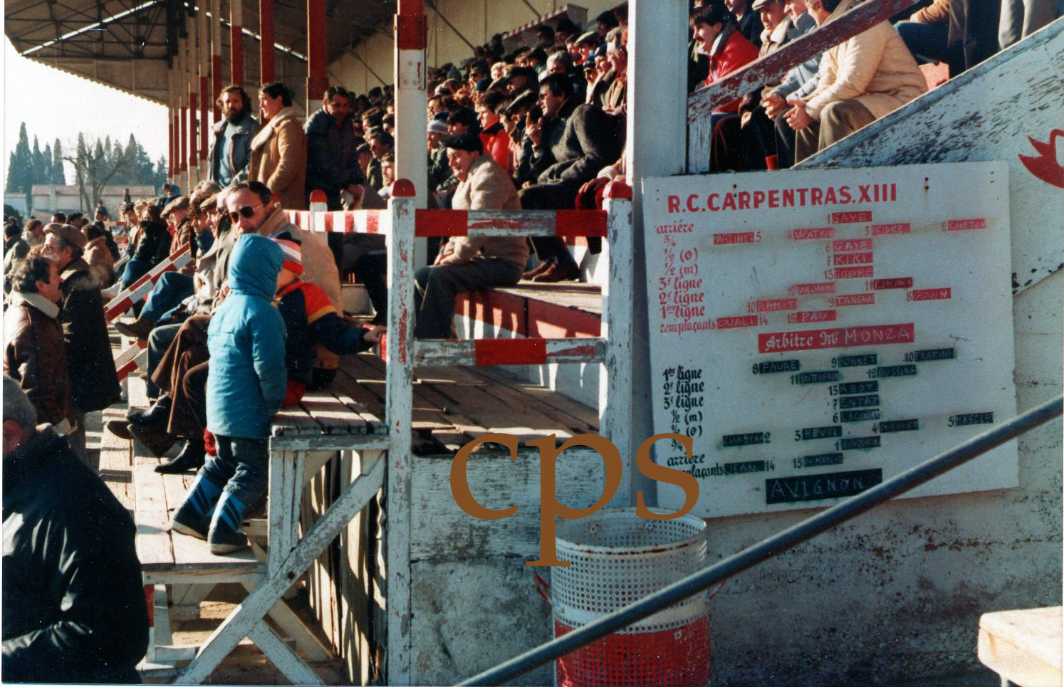 Tribunes du stade de la Roseraie