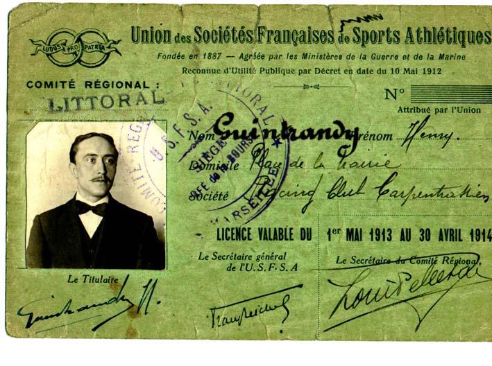 Licence USFSA 1913