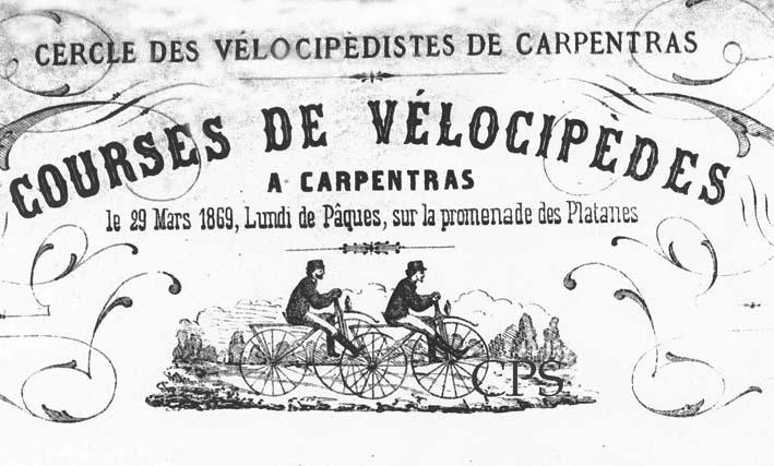 courses cyclistes de Mars 1869