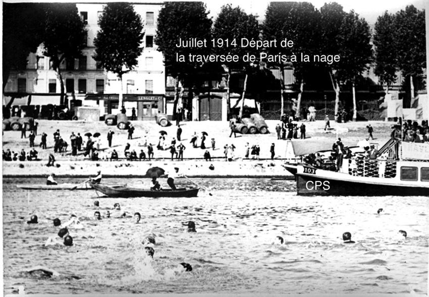 Traversée de Paris à la nage