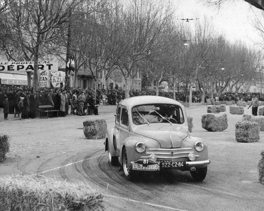 Le gymkhana du rallye de la lavande - 1958